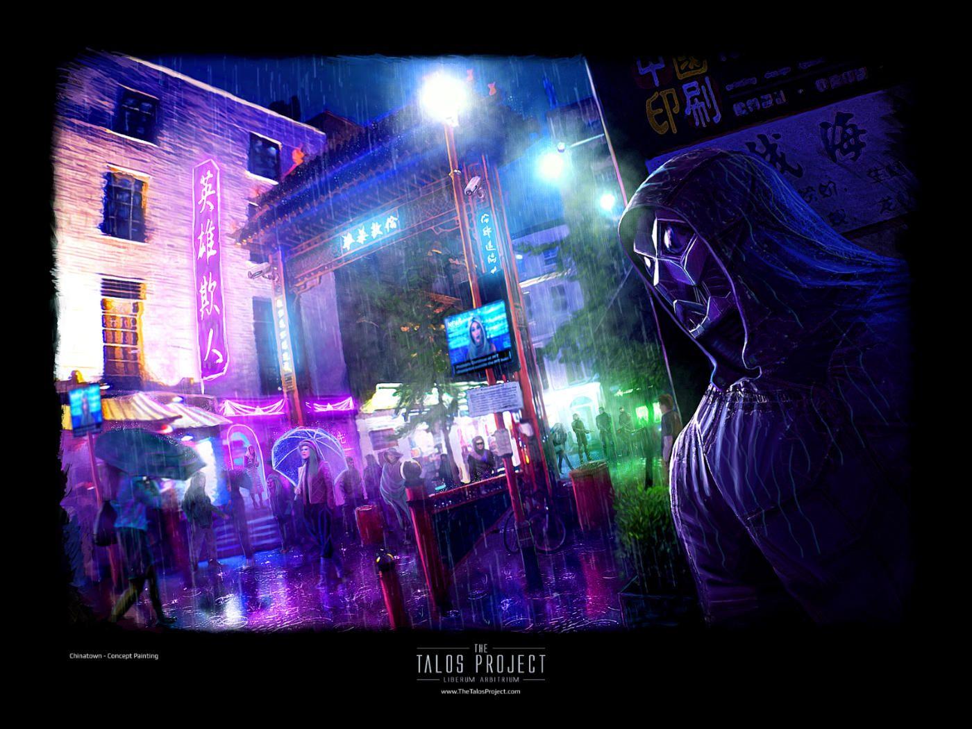 Chinatown Cyberpunk Concept Art