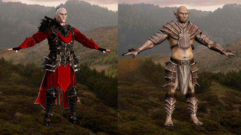 Dark Mage & Goblin fantasy characters