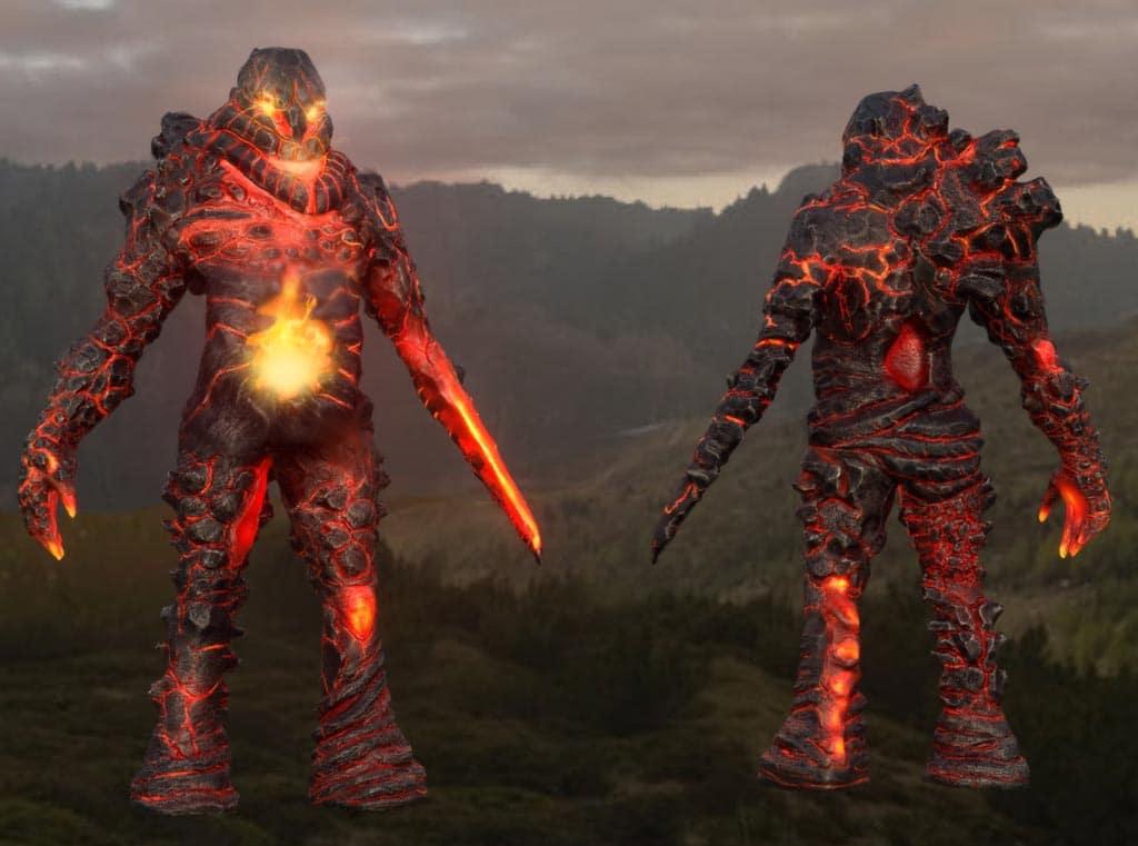 Fire Elemental fantasy creature