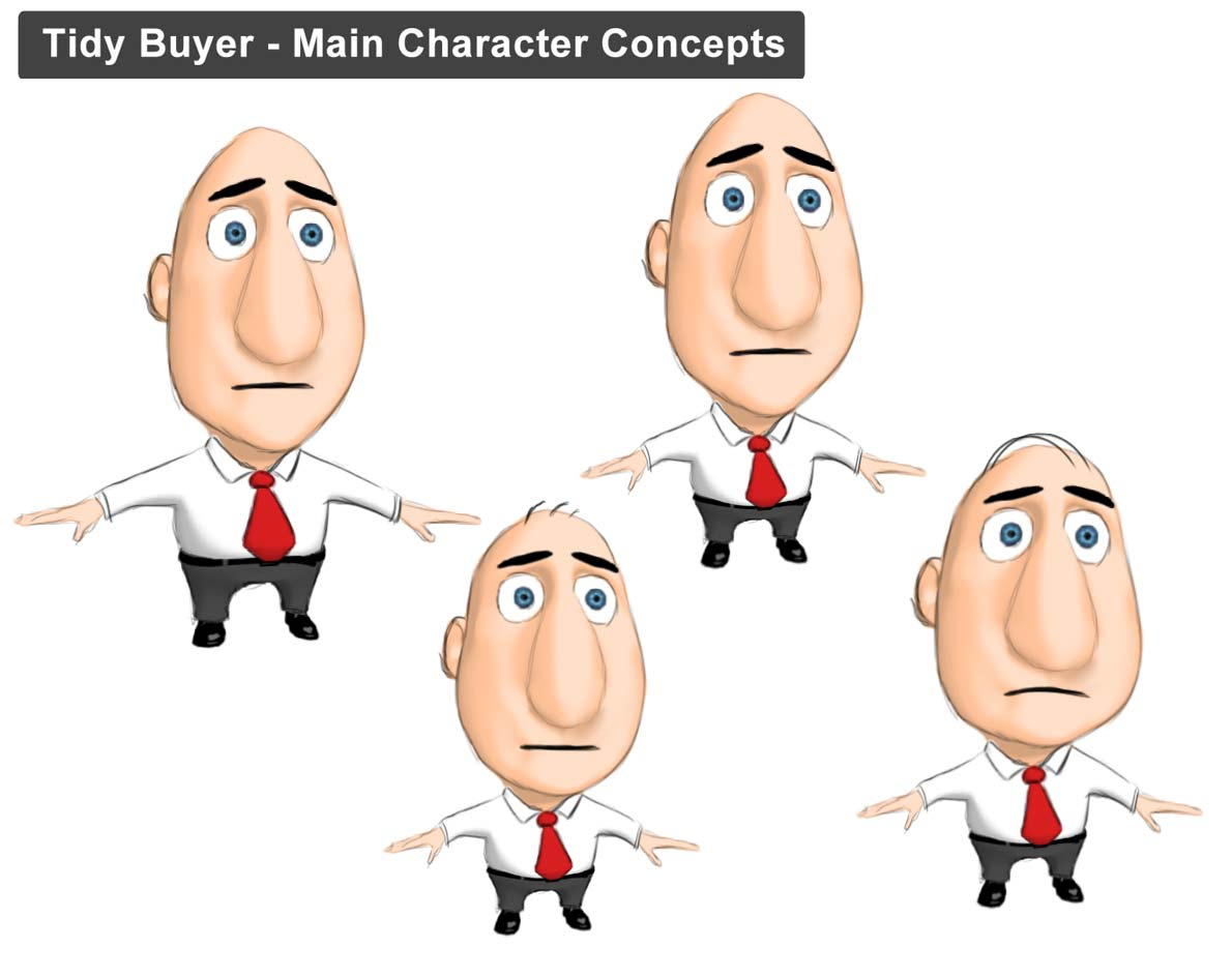 3D Stylised Character Sketches