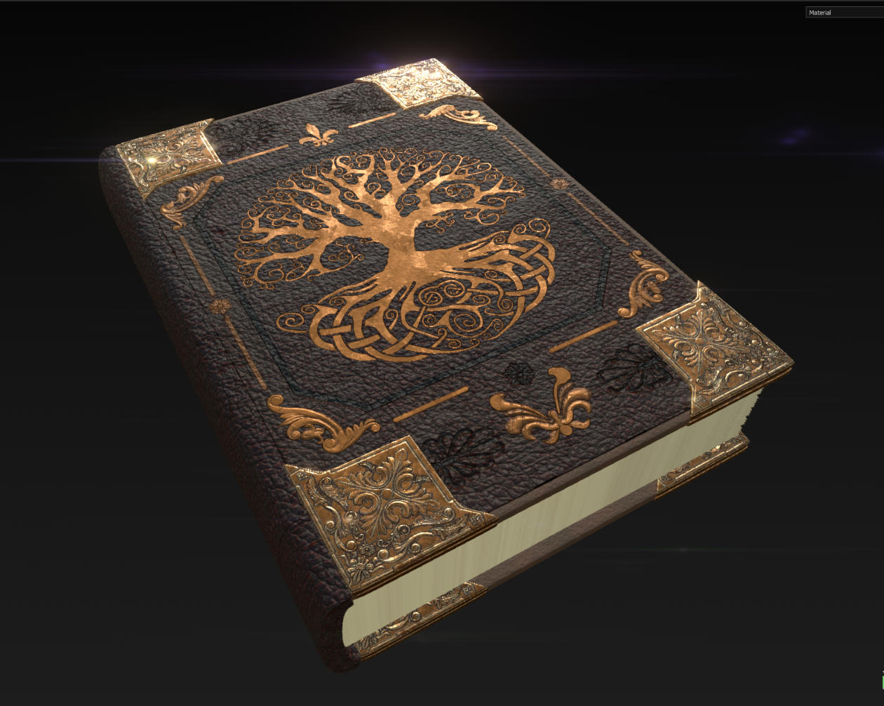Fantasy Book Substance Painter