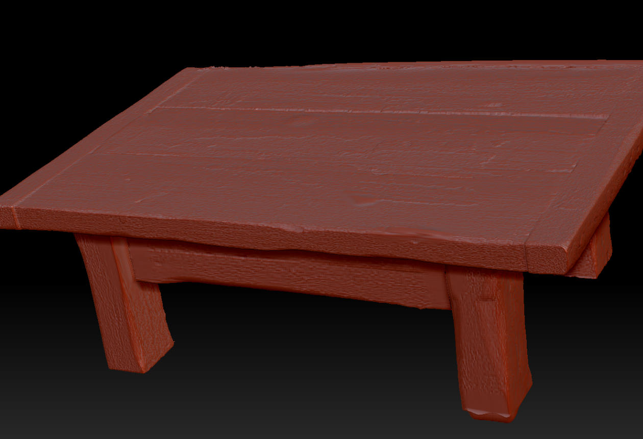 Wooden Table 3D Scan