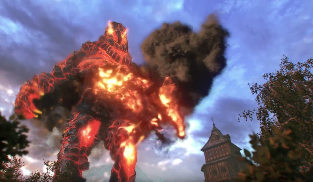 Fantasy Creature Model: Fire Elemental