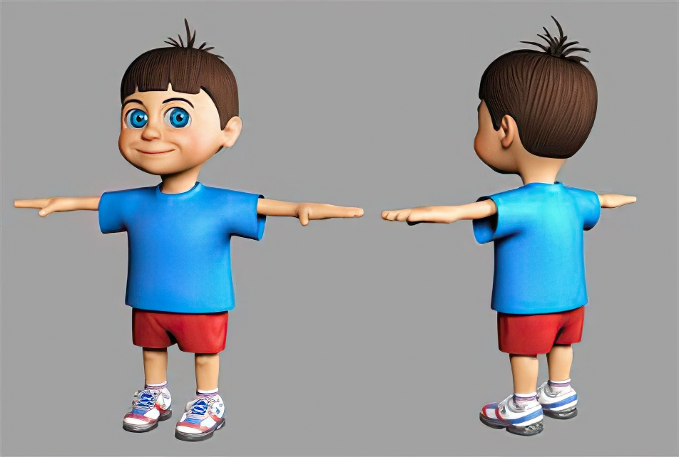 Animated Commercial - Boy Character Model